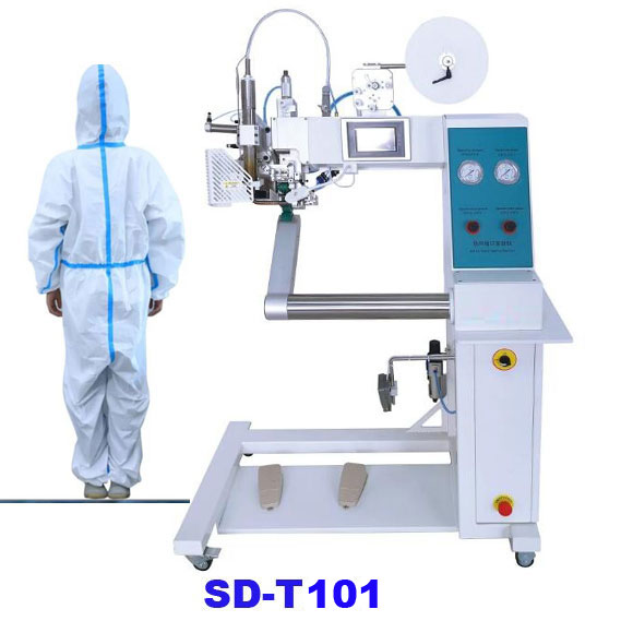 Hot air seam sealing machine for PPE suit